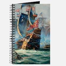 Battle Ships At War Painting Journal