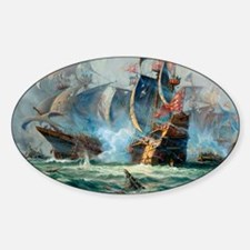 Battle Ships At War Painting Decal