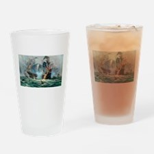Battle Ships At War Painting Drinking Glass