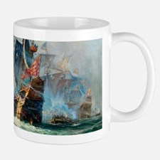 Battle Ships At War Painting Mugs