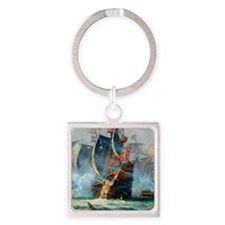 Battle Ships At War Painting Keychains