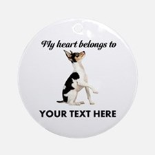 Custom Toy Fox Terrier Ornament (Round)