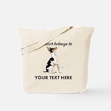 Custom Toy Fox Terrier Tote Bag