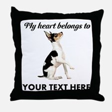 Custom Toy Fox Terrier Throw Pillow