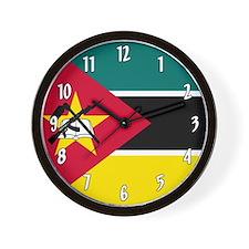 Mozambique Flag Wall Clock