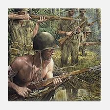 Vietnam War Painting Tile Coaster