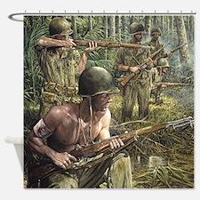 Vietnam War Painting Shower Curtain