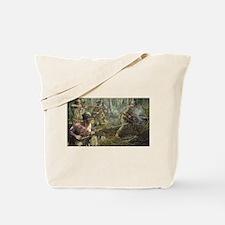 Vietnam War Painting Tote Bag