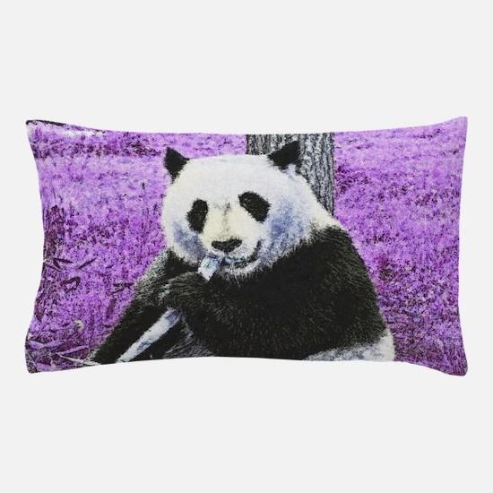 Funky lilac Panda Pillow Case