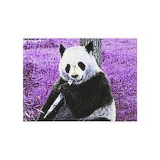 Funky lilac Panda 5'x7'Area Rug