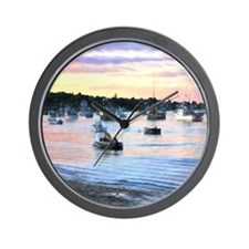 Lobster Boats At Twilight In Cape Cod Wall Clock