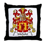 Michelet Family Crest Throw Pillow