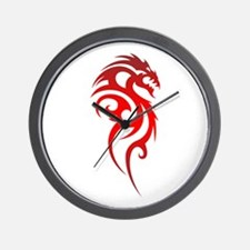 Dragon Tribal Symbol Wall Clock