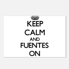 Keep Calm and Fuentes ON Postcards (Package of 8)