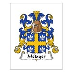 Metayer Family Crest Small Poster