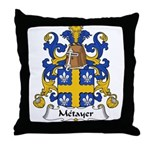 Metayer Family Crest Throw Pillow
