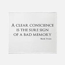 A Clear Conscience Throw Blanket