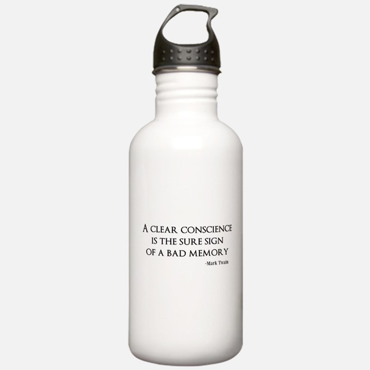 A Clear Conscience Water Bottle