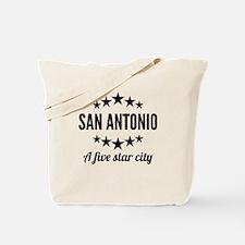 San Antonio A Five Star City Tote Bag
