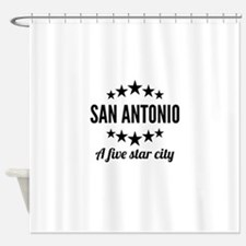 San Antonio A Five Star City Shower Curtain
