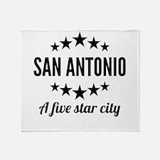 San Antonio A Five Star City Throw Blanket