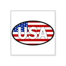 "Cute Usa Square Sticker 3"" x 3"""