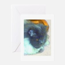 Blue Persian Cat Greeting Card