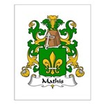 Mathis Family Crest Small Poster