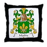 Mathis Family Crest Throw Pillow