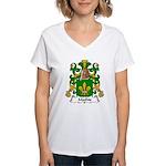 Mathis Family Crest Women's V-Neck T-Shirt
