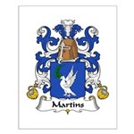 Martins Family Crest Small Poster