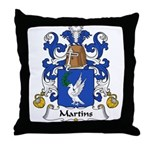 Martins Family Crest Throw Pillow