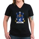 Martins Family Crest Women's V-Neck Dark T-Shirt