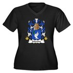 Martins Family Crest Women's Plus Size V-Neck Dark