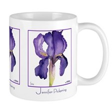 Three Irises on white background