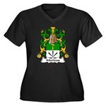 Marteau Family Crest Women's Plus Size V-Neck Dark