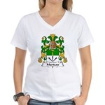 Marteau Family Crest Women's V-Neck T-Shirt