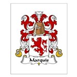 Marquis Family Crest  Small Poster