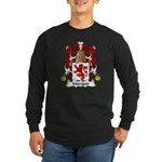 Marquis Family Crest Long Sleeve Dark T-Shirt