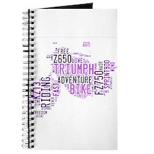 Motorbike words purples Journal
