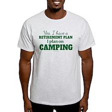 Camping Retirement Plan T-Shirt