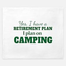 Camping Retirement Plan King Duvet