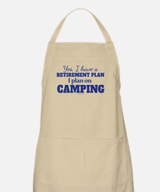 Camping Retirement Plan Apron