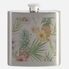 Cute Hawaiian flowers Flask