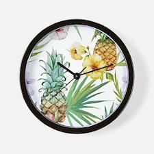 Cute Pineapple Wall Clock