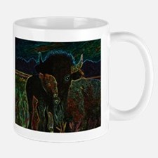 American Bison in Neon Mugs
