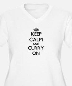 Keep Calm and Curry ON Plus Size T-Shirt
