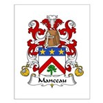 Manceau Family Crest Small Poster