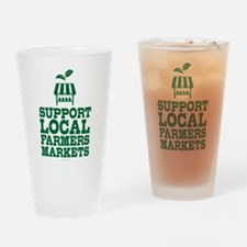 Support Farmers Markets Drinking Glass