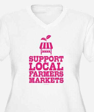 Support Farmers Markets Plus Size T-Shirt